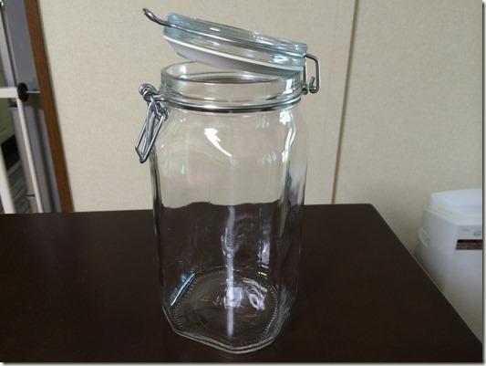 1.5Lのガラス容器
