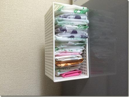 冷蔵庫にレジ袋