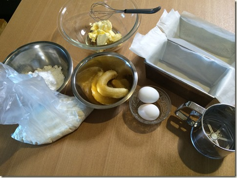 バナナパウンドケーキ材料