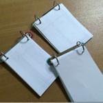 要らないファイルと紙を再利用。超簡単にメモ帳を大量生産する。