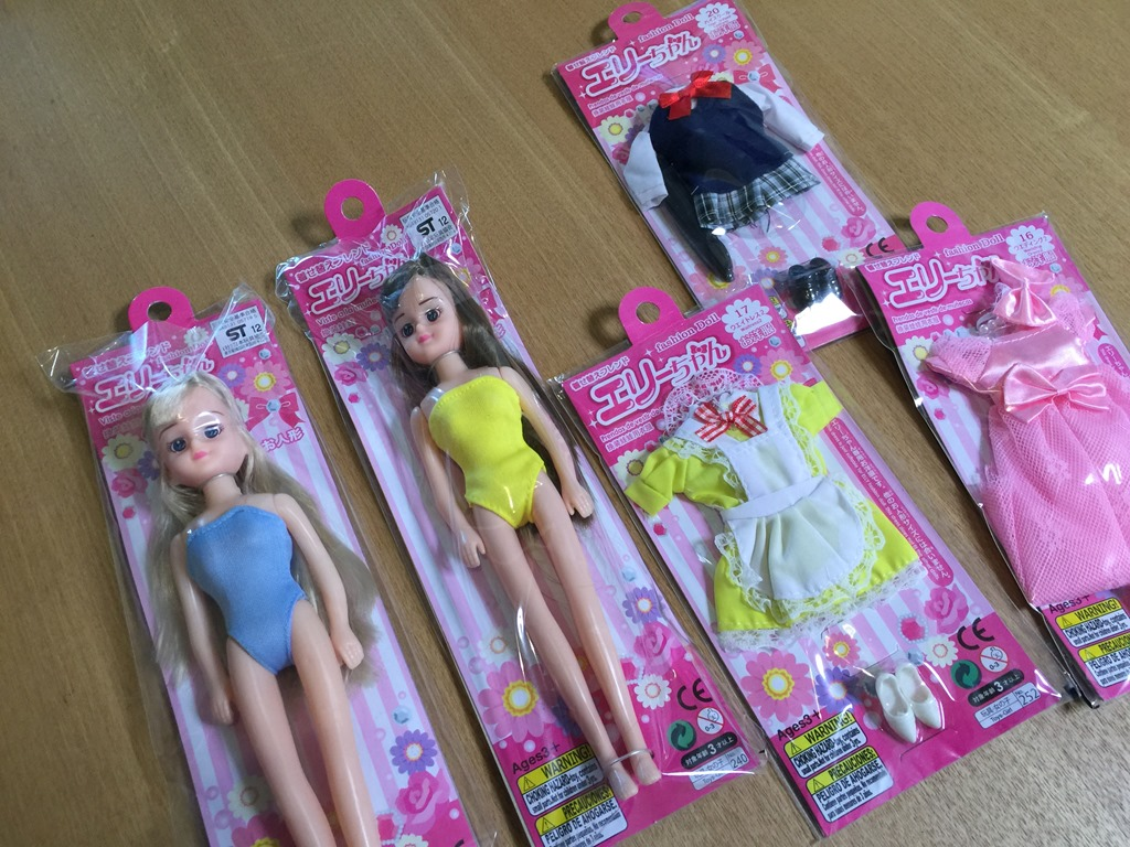 ダイソーの「着せ替えフレンド エリーちゃん」が凄い。お人形遊びにオススメ。