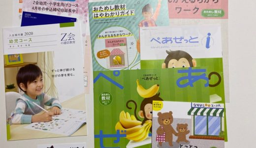 Z-KAI(Z会)幼児コースの資料請求してみた。体験教材の内容とその感想。